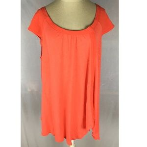 Free People Keep it Casual top coral coast split